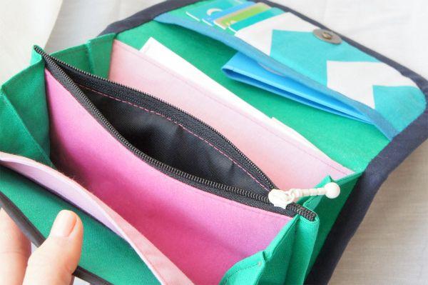 ordermade wallet grey: inside #handmade #wallet #ordermade #sewing