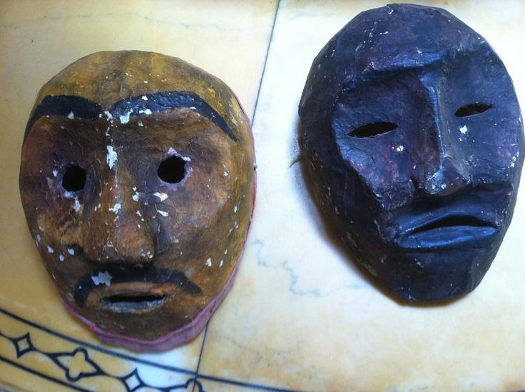 Rare Vintage Theatre Paper Mache Masks by czarchild on Etsy
