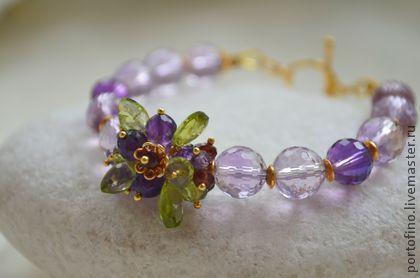 """браслет """"Полевые цветы"""" - бледно-сиреневый,фиолетовый,лавандовый,сиреневый браслет"""