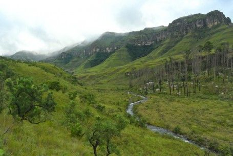 River below camp heading towards Monks Cowl