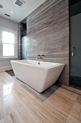 Shower hidden behind wall.  Sherwood Custom Homes - contemporary - bathroom - toronto - Sherwood Custom Homes