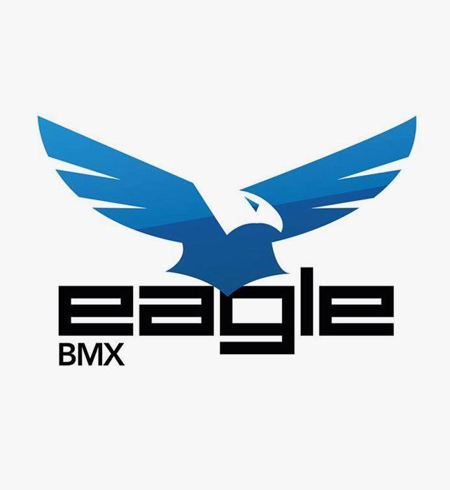 Création du logo de la société Eagle BMX, spécialiste du matériel et des équipements de BMX, basée à Annecy (74).