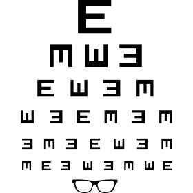 Sehtest mit Brille - Ein normaler Sehtest wie mein Optiker bzw. Augenarzt.