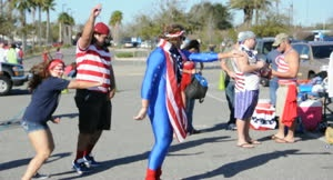 VIDEO: USA soccer fans party outside of EverBank Field In Jacksonville, Florida before the USWNT vs Scotland match on February 9, 2013.
