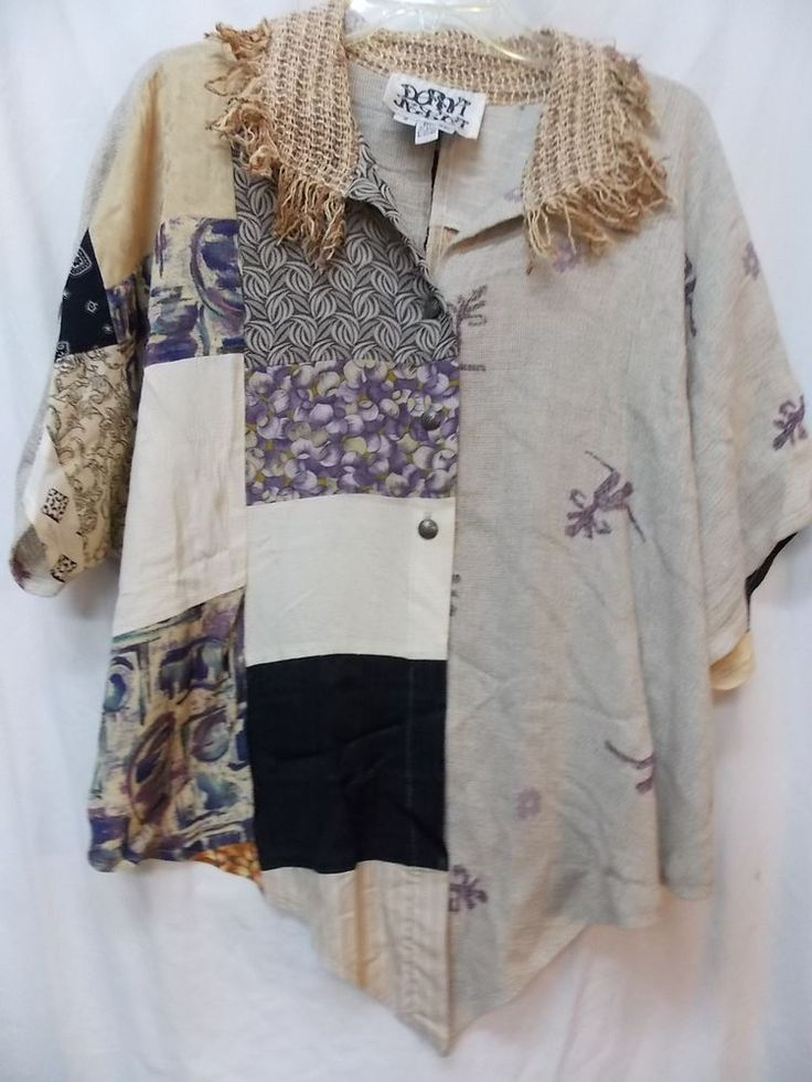 VINTAGE BOUTIQUE DONNA JESSICA WEARABLE FUNKY ART TOP
