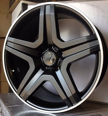 20-Mercedes-Black-Wheels-ML320-350-500-GL450-550-R350-with-4-Rims-New-5x112