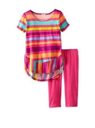 66% OFF Splendid Littles Girls 2-6X Carnival Stripe Short Sleeve Set (Funnel Cake)