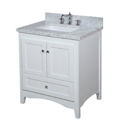 Elegant 30 Inch Bathroom Vanity Single Sink Cabinet In Shaker Gray With Soft