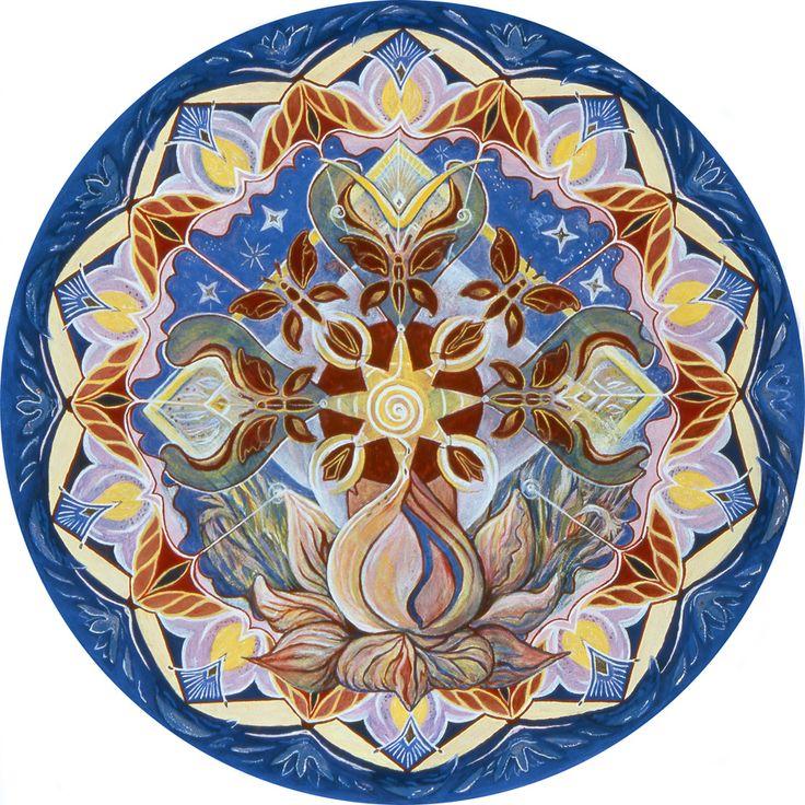 Mijn Ei-tempera droom mandala was ook aanwezig bij de Internal Dreamconference 2011