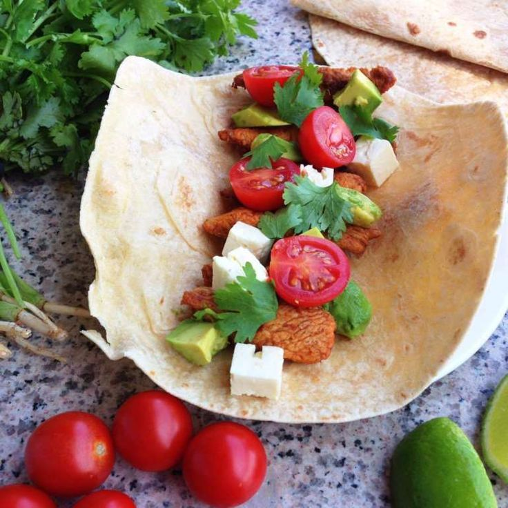 As with most wraps, it's all about preference. And for me, this combination is everything I dream about in a wrap (and trust me I dream about food a lot). So use this recipe as a basis to stuff, fill & top with whatever you fancy!
