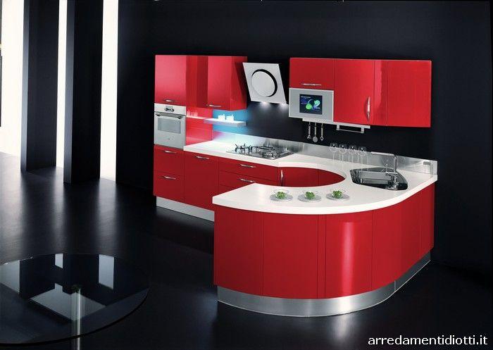 Diotti Cucine Moderne.Cucina Rotonda Geosfera Con Penisola Curva Diotti A F