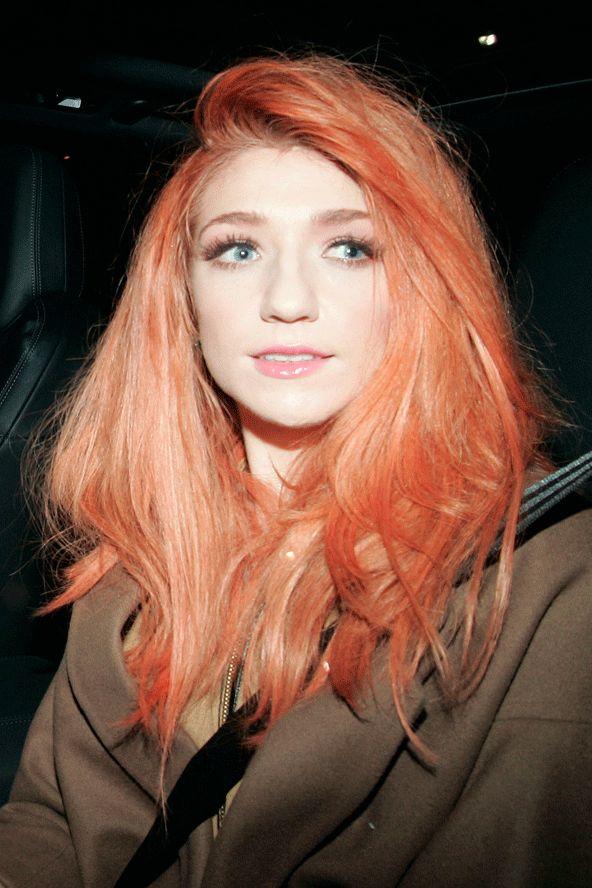 Nicola Roberts' hair orange messy and voluminousness