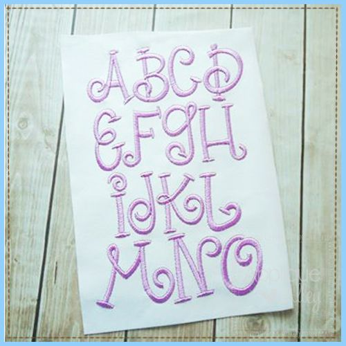"""Digital+Font+Design+for+use+with+Embroidery+Machine Sizes:+1"""",+1.5"""",+and+2"""" Formats:+ART,+PES,+DST,+EXP,+HUS,+JEF,+VIP,+VP3,+SEW,+XXX"""