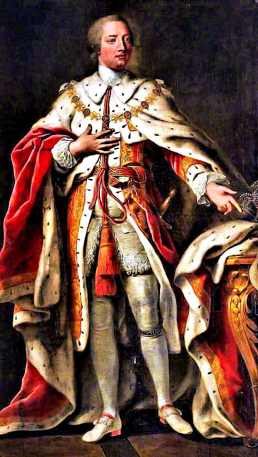 King George III 4 June 1738 - 29 January 1820 Died at Windsor United Kingdom.