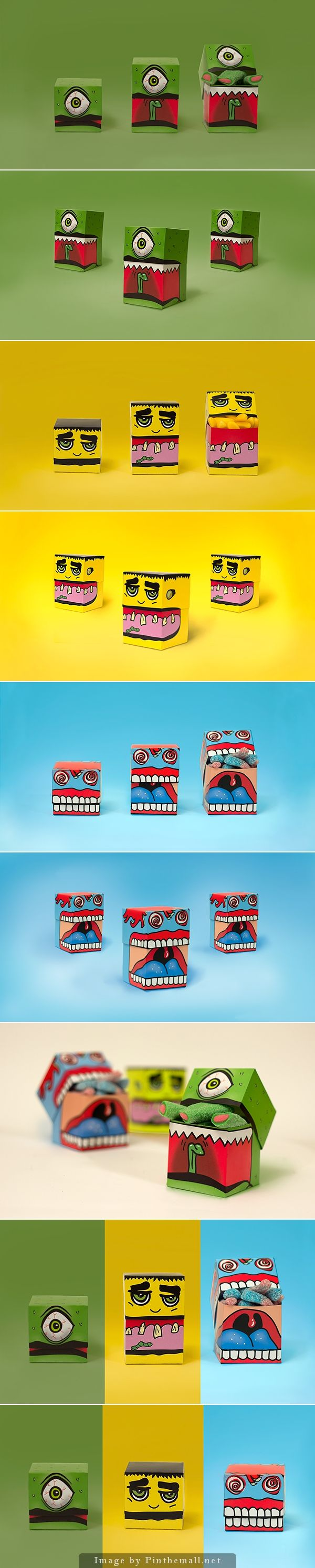 Even though Halloween is over Monster Candy packaging by Charlotte Olsen on Behance is just too cute to resist curated by Packaging Diva PD