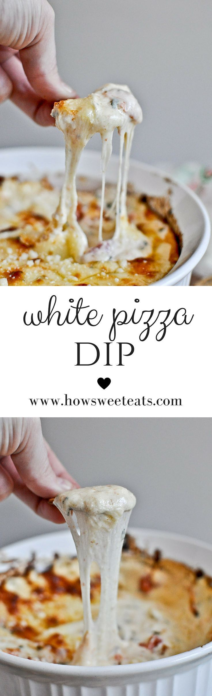 White Pizza Dip by /howsweeteats/ I http://howsweeteats.com
