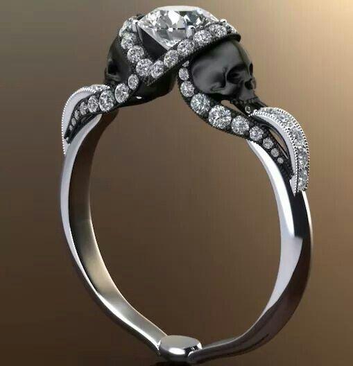 1000 ideas about Skull Wedding Ring on Pinterest