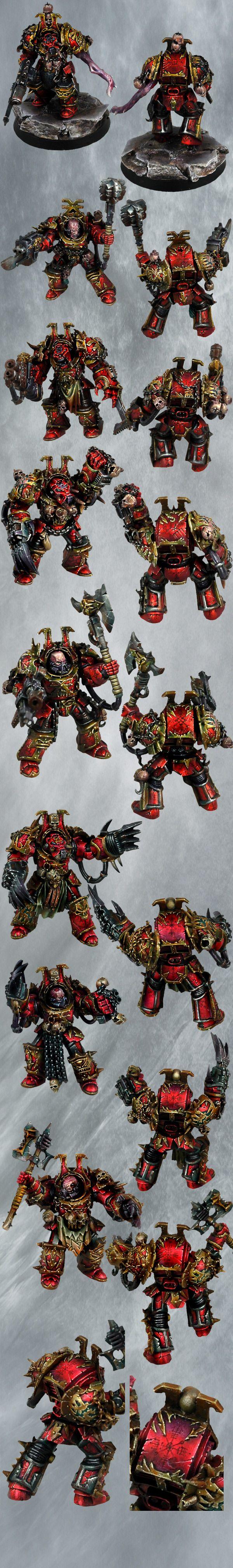 World Eaters Terminator Squad closeups