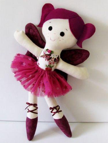 Sugar Plum Fairy Ballerina Cloth Doll Awesome PDF patterns