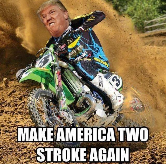 Trump Riding Dirt Bike Roadbikewomen Roadbikeaccessories