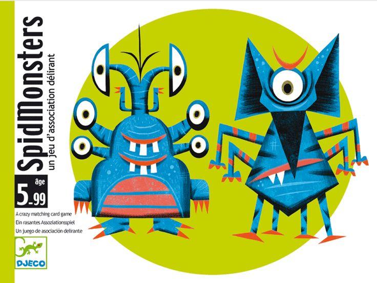 Spidmonster- mókás kártyajáték szörnyekkel (Djeco) | Pandatanoda.hu Játék webáruház