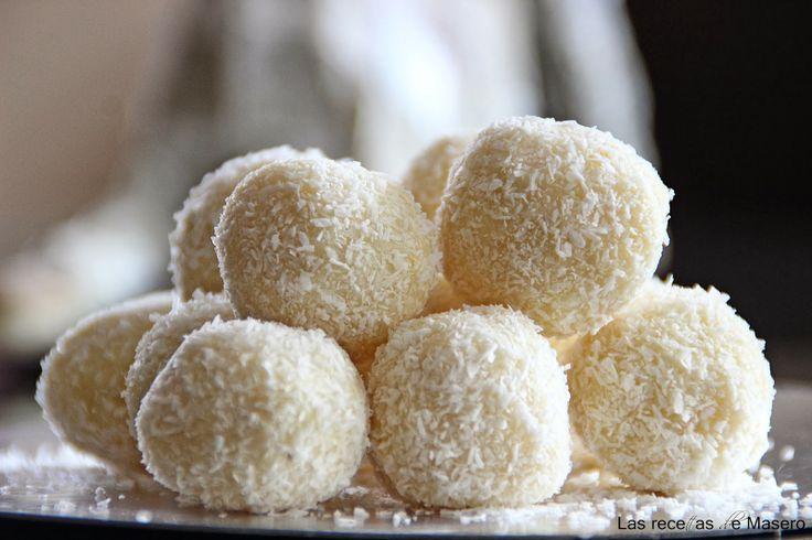 Las recetas de Masero.: Trufas de chocolate blanco y coco.