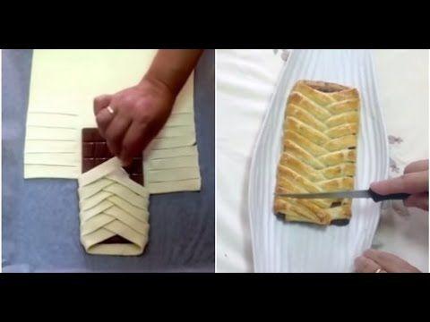 Elle Enrobe Une Barre De Chocolat Dans Une Pâte Feuilletée… Sa Recette Est Un Pur Délice, Miam!! »