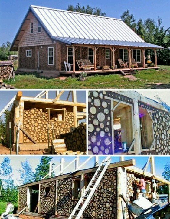 121 best images about cordwood on pinterest bottle wall for Cordwood home plans