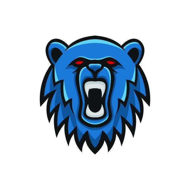 beruang logo maskot bentuk kepala liar sport ilustrasi lambang terpencil pasukan vektor vektor dan png ilustrasi logo keren grafik beruang logo maskot bentuk kepala liar