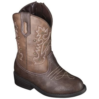 Toddler Girl's Cherokee� Darcy Cowboy Boots - Brown I sooo need to get those for Eliana!  Adorable!!