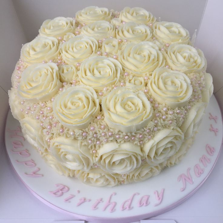 Rose birthday cake by Sweet Bea's Bakery
