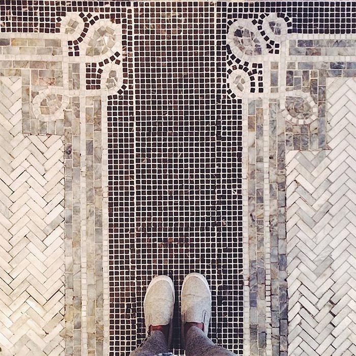 i wouldnt really put it in a house but this is a lovely tile carpet design - Mosaic Tile House 2015