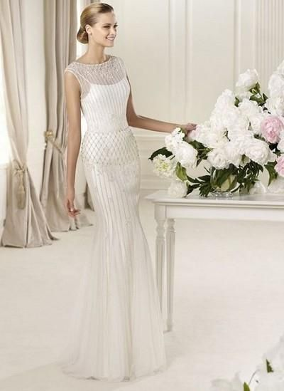Свадебное платье годе фото