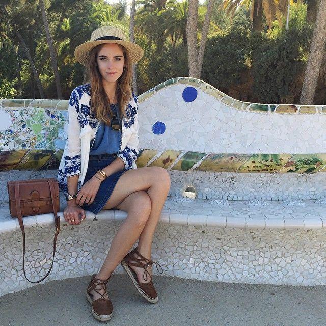 Zara embroidered jacket of summer 2015 on Chiara Ferragni