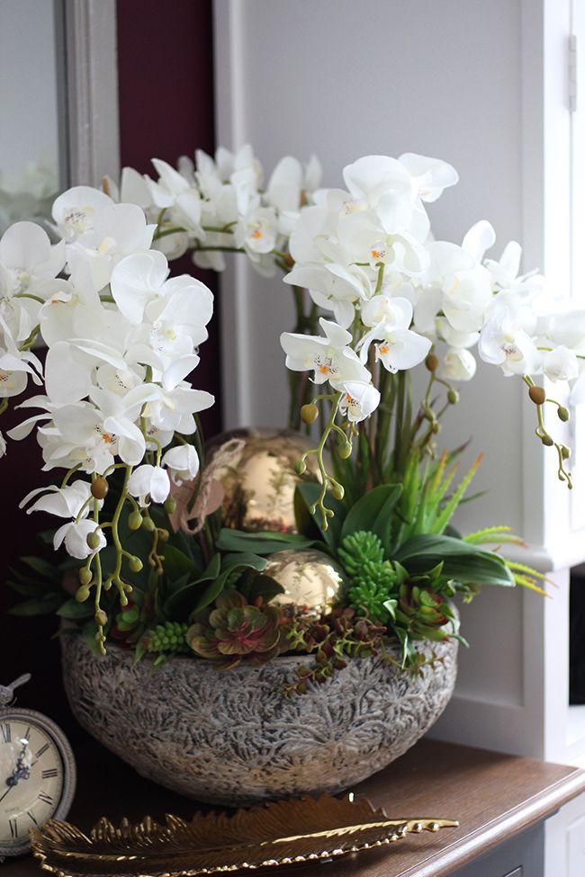 Pin By Monika Szwed Olesinska On Sztuczne Kwiaty Doniczkowe Modern Flower Arrangements Orchid Flower Arrangements Orchid Arrangements