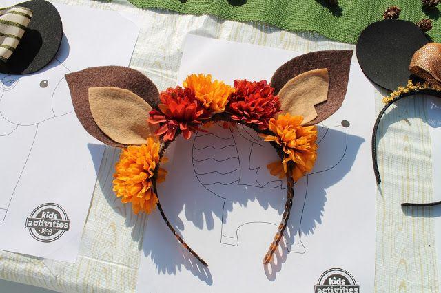 felt deer ear headband