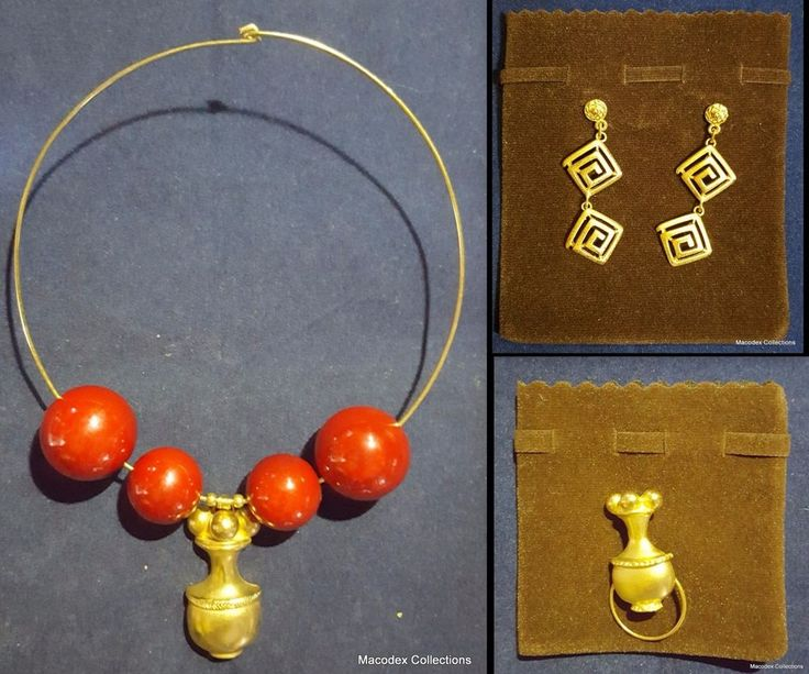 Beautiful Pre-columbian Jewelry Lot of (3), made in alloying with no iron