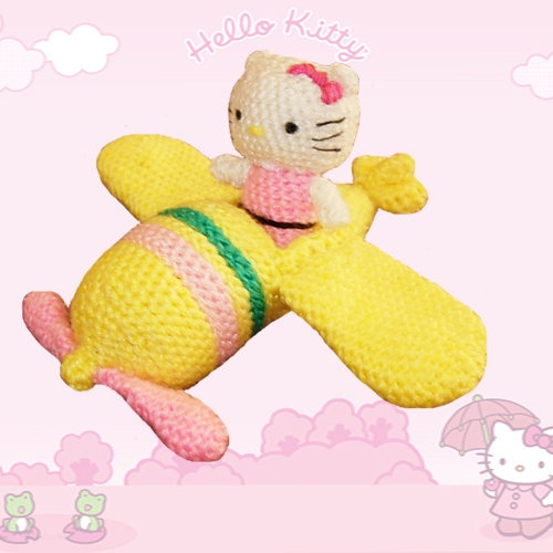 Hello Kitty Amigurumi Pattern kitty and plane by CrochetExpression, €2.00