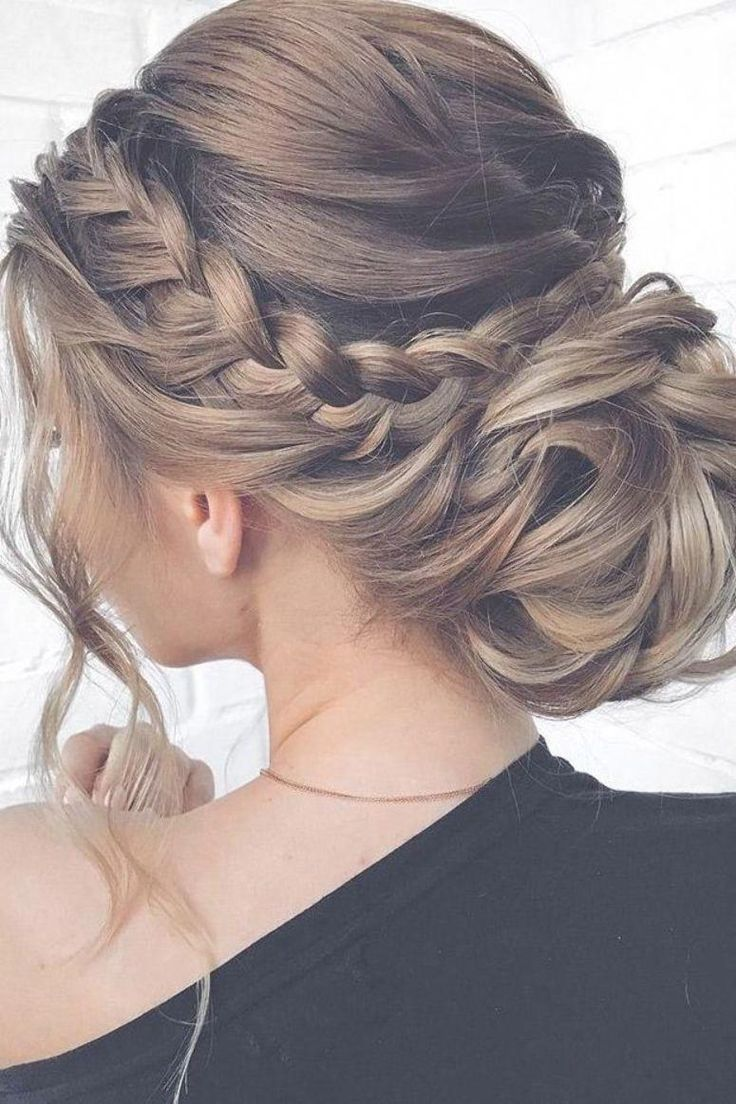 Loose Braided Updo Wedding Hairstyles Mother Of The Bride Hair Long Hair Styles Bride Hairstyles