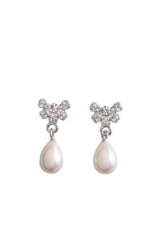 Brautschmuck ohrringe perlen  16 besten Brautschmuck Bilder auf Pinterest | Aussage Ohrringe ...