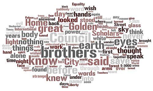 Anthem (by Ayn Rand) Wordle, via courtneyjohnston