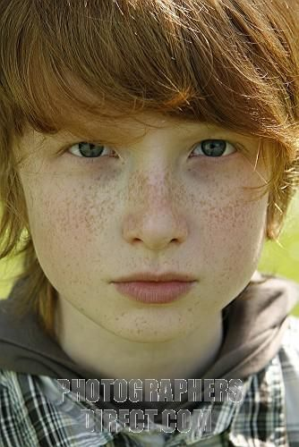 11 Year Old Boy with Red Hair