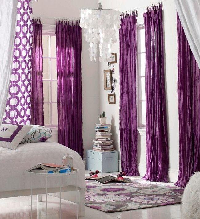 HappyModern.RU | Фиолетовые шторы в интерьере: особенности настроения и выбор оттенков | http://happymodern.ru