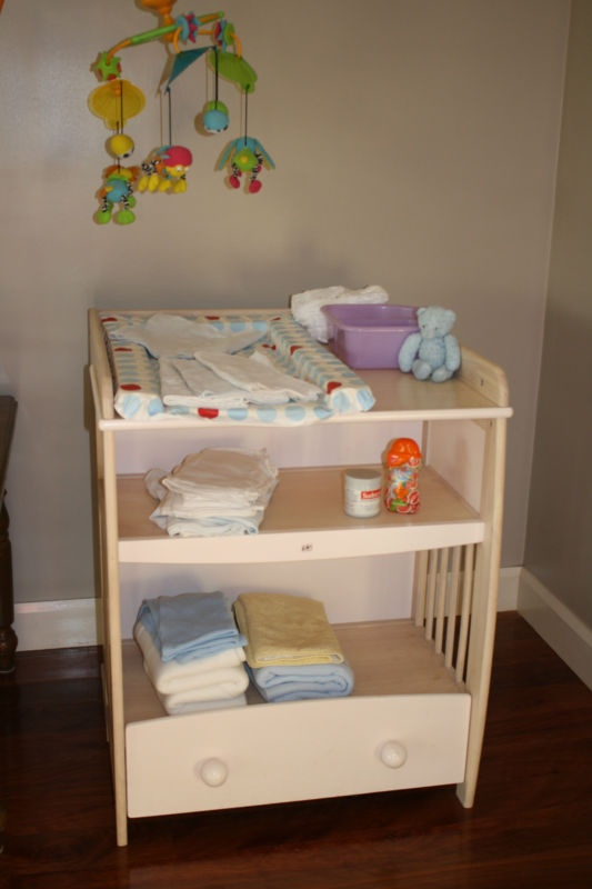 Marvelous Large Baby Change Table With Shelves And Drawer | EBay