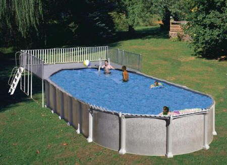 Oval Above Ground Pool Deck Kits -End Deck