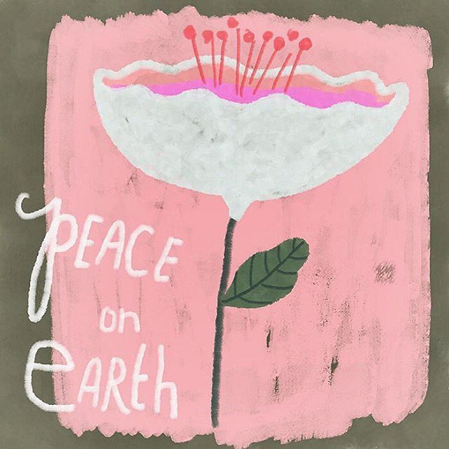 Illustration: Sarah Hand, heartsandneedles. Seen on happymakersblog.com    #peaceonearth #sarahhand #illustration #floraillustration #flower #wishes #wishyouallthebest #wishillustration #wishesanddreams