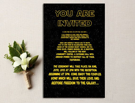 10 Star Wars Inspired Invitation (Customizable)