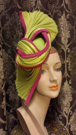 Silk Jinsin Hat by Ruby & Leo Millinery.