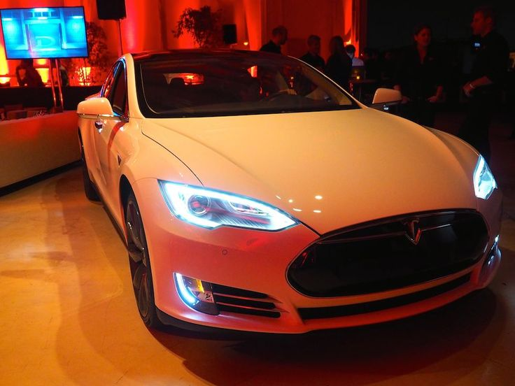 Tesla's new P85D. Faster than a Ferrari, more fuel cost efficient and at half the price.