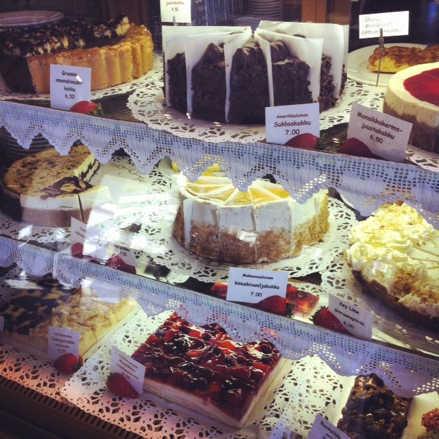 Delicious cakes at Lapinniemen Ansari, Tampere, Finland. #tampereblog #tampereallbright